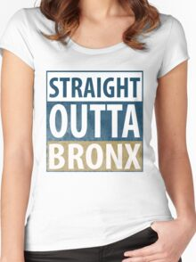 Straight Outta BRONX Women's Fitted Scoop T-Shirt