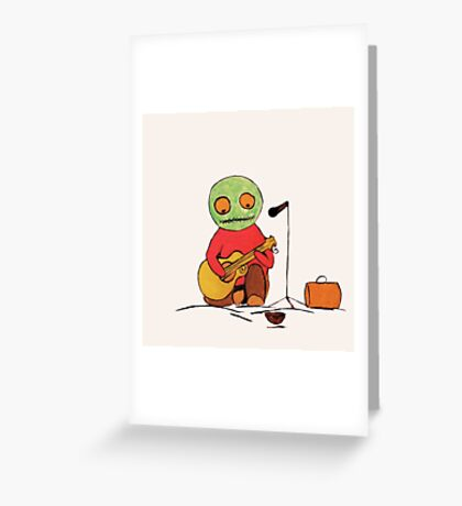 Freddy can't sing no more Greeting Card