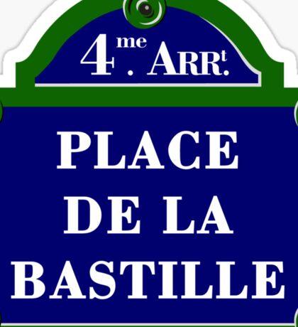 Place de la Bastille, Paris Street Sign, France Sticker