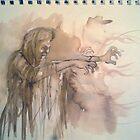 Witch,Ink sketch by MrLone