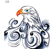 Bald Eagle pen and ink drawing Photographic Print