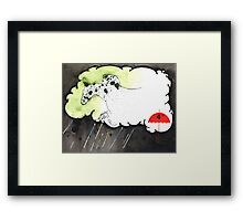 hades was following close behind him Framed Print