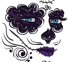 Day of Dead Girl Face 9 by AnnArtshock