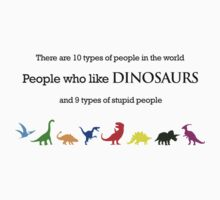 10 Types of People - Dinosaurs One Piece - Short Sleeve