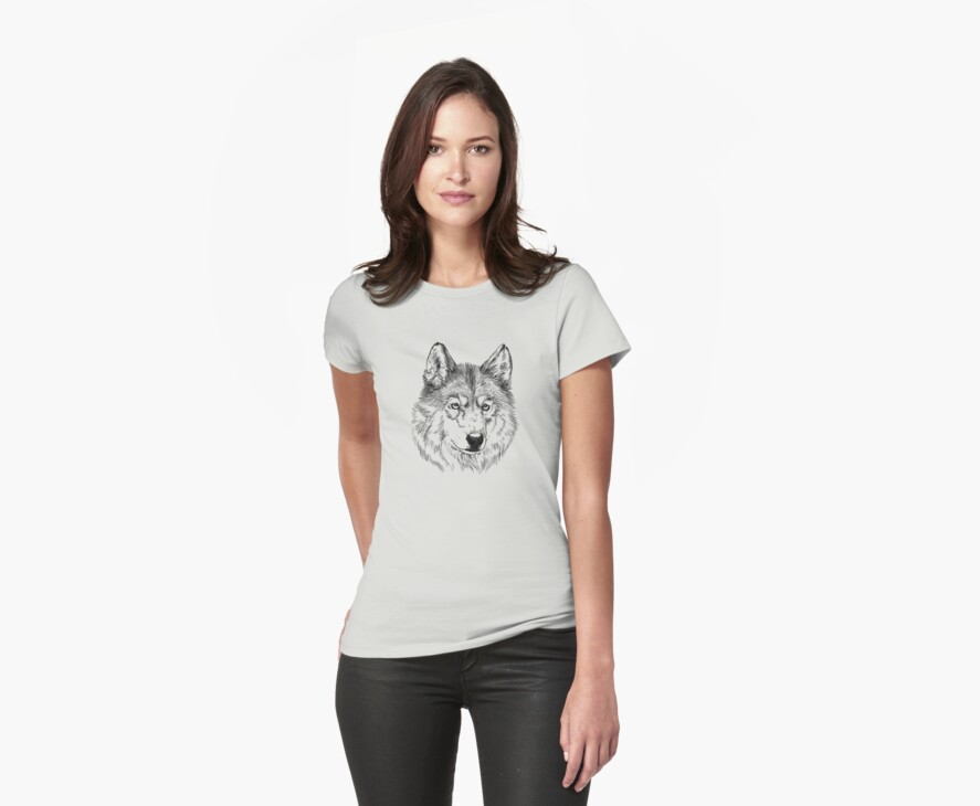 Arctic wolf face by LauraMSS