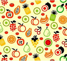 Fruit Pattern Beddings by lolotees