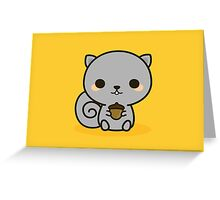 Cute squirrel with acorn Greeting Card