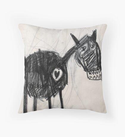 Horsey 2 Throw Pillow