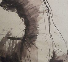Back Torso - Sketch of a Female Nude by CarmenT