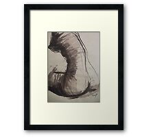 Back Torso - Sketch of a Female Nude Framed Print