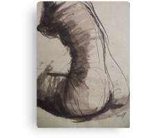 Back Torso - Sketch of a Female Nude Canvas Print