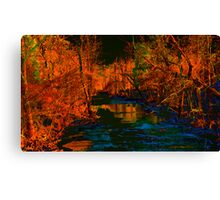 Blue Creek in Orange Canvas Print