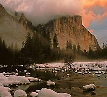 WINTER STORM,EL CAPITAN by Chuck Wickham