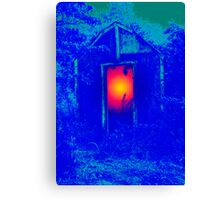 Blue Shack Calling Canvas Print