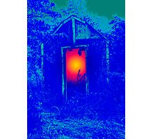 Blue Shack Calling Photographic Print