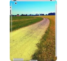 Lonely countryside gravel road iPad Case/Skin