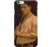 Benjamin K Edwards Collection Grover Hartley New York Giants baseball card portrait iPhone Case/Skin