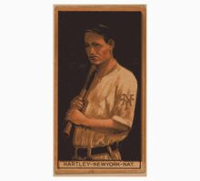 Benjamin K Edwards Collection Grover Hartley New York Giants baseball card portrait One Piece - Short Sleeve