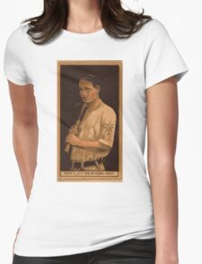 Benjamin K Edwards Collection Grover Hartley New York Giants baseball card portrait Womens Fitted T-Shirt