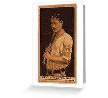 Benjamin K Edwards Collection Grover Hartley New York Giants baseball card portrait Greeting Card