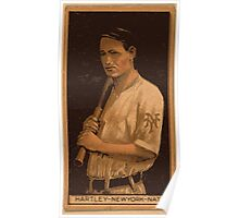 Benjamin K Edwards Collection Grover Hartley New York Giants baseball card portrait Poster