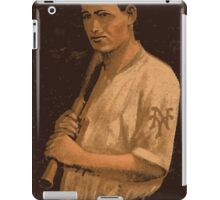 Benjamin K Edwards Collection Grover Hartley New York Giants baseball card portrait iPad Case/Skin