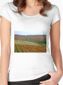 The colours of the Langhe  Women's Fitted Scoop T-Shirt