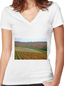 The colours of the Langhe  Women's Fitted V-Neck T-Shirt