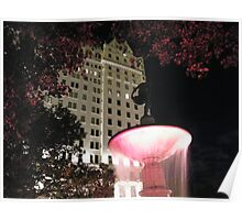 Fountain Outside Plaza Hotel, New York Poster