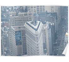 Flatiron Building, Empire State Building, View from Observation Deck Poster