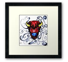 Buffalo Pen and Ink Drawing Framed Print