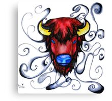 Buffalo Pen and Ink Drawing Canvas Print