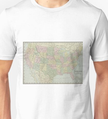 Vintage United States Map (1889) Unisex T-Shirt