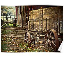 Old Amish Wagon Poster