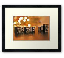 Create Love Framed Print