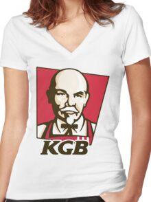 KGB Women's Fitted V-Neck T-Shirt