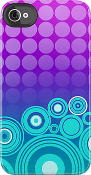 Concentrics - Green|Blue|Purple [iPhone/iPod case] by Damienne Bingham