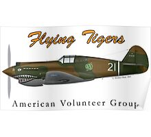P40B Flying Tigers Poster