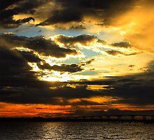 Firery Sunrise by Cynthia Broomfield