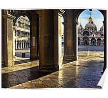 ¯`'·.¸(♥)¸.·'´FRAME IN FRAME CAPTURE PIAZZA SAN MARCO VENICE ITALY ¯`'·.¸(♥)¸.·'´ Poster