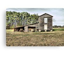Old Barn ( HDR ) Canvas Print