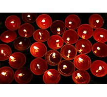 Red Candles Photographic Print