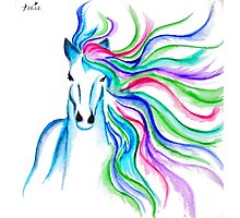 Unicorn Pen and Ink drawing Photographic Print
