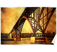 Golden High Bridge Poster
