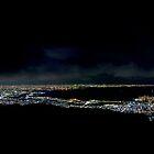 Osaka & Kobe at night.  by notjustmotion