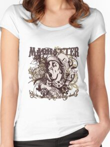 Mad Hatter Carnivale Style Women's Fitted Scoop T-Shirt