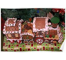 Gingerbread train Poster