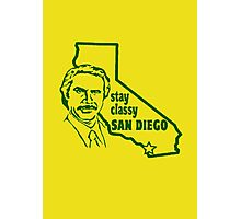 "Ron Burgundy - ""Stay classy San Diego"" (green) Photographic Print"