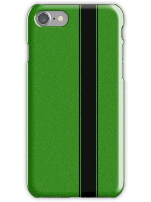 Racing Stripe - Black on Green Flake by ubiquitoid
