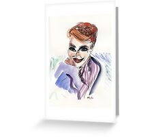 Part Tab Works - woman 3 Greeting Card